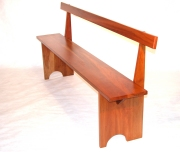 Shaker Bench with Back